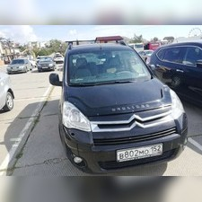 Дефлектор капота Citroen Berlingo 2008 - нв (темный)