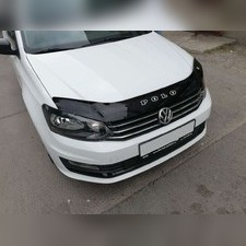 Дефлектор капота Volkswagen Polo 2010 - 2020 (темный)