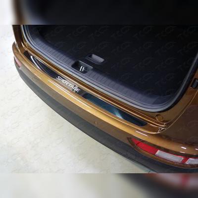 Накладка на задний бампер (лист полированный, с названием марки автомобиля)