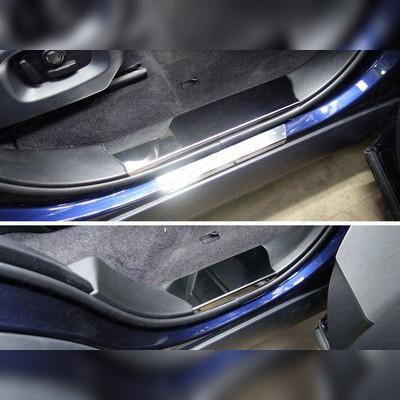 Накладки на пластиковые пороги (лист зеркальный без названия марки автомобиля)