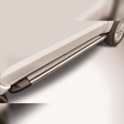 """Комплект алюминиевых порогов, модель """"Luxe Silver"""""""