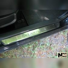 "Накладки на пороги с названием модели автомобиля, серия ""Standart"""
