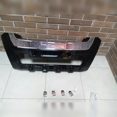 Накладка на передний бампер (хром пластик)