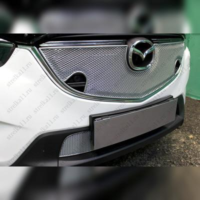 """Накладка на решетку радиатора верхняя """"PREMIUM CHROM 3D"""" для автомобилей с штатным парктроником"""