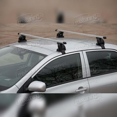 Багажник на крышу за дверной проем с дополнительной фиксацией (прямоугольные поперечины),