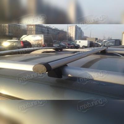 """Багажник на рейлинги аэродинамический """"Крепыш Аэро"""", длинна поперечин 130 сантиметров."""
