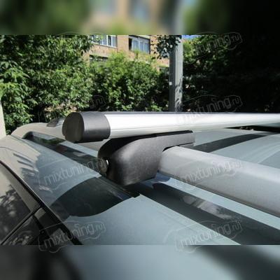 """Багажник на рейлинги аэродинамический, """"Евро Аэро с секреткой """", длинна поперечин 130 сантиметров."""