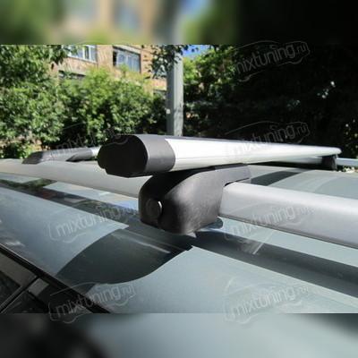 """Багажник на рейлинги аэродинамический, """"Евро Аэро с секреткой """", длинна поперечин 140 сантиметров."""