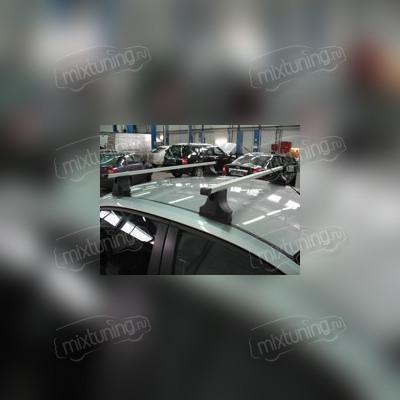 Багажник на крышу в штатные места, c фиксацией винтами (прямоугольные поперечины)