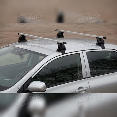Багажник на крышу за дверной проем с дополнительной фиксацией (прямоугольные поперечины) для хэтчбек