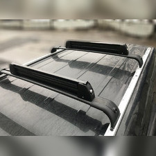 Багажник на штатные рейлинги (черный)