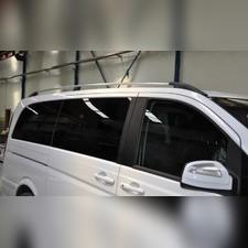 Рейлинги Mercedes-Benz Vito (серебристого цвета, для средней базы, длина кузова 5 м)