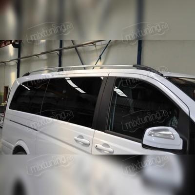 Рейлинги Mercedes-Benz Vito (серебристого цвета, для длинной базы, длина кузова 5.22 м)