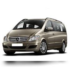 Рейлинги Mercedes-Benz Vito (черного цвета, для средней базы, длина кузова 5м)