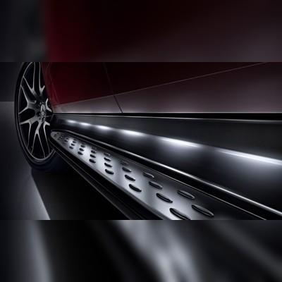 Пороги Mercedes-Benz GLE Coupe 2015 - 2019 C292 (с подсветкой OEM)