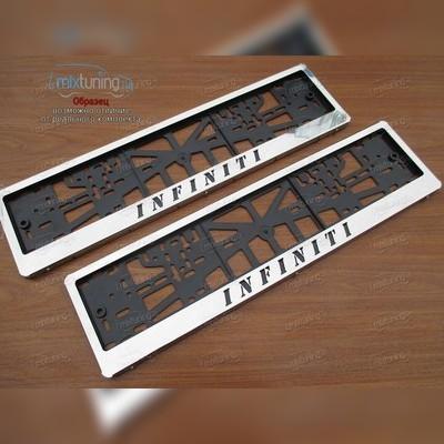 Рамки номерного знака с индивидуальной надписью
