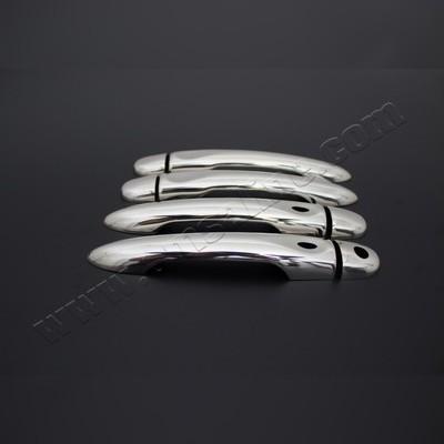 Накладки на дверные ручки с отверстием под сенсор (нержавеющая сталь)