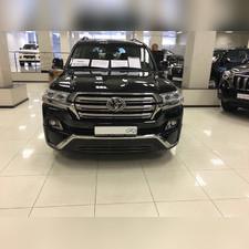 """Накладка переднего и заднего бампера Toyota Land Cruiser 200 2016-нв """"MIDDLE EAST"""" (Executive Black)"""