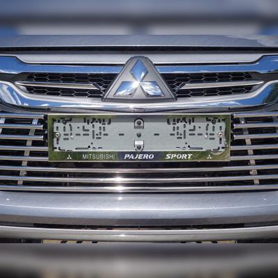 Комплект рамок под номер (с логотипом марки и модели автомобиля)