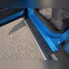 Пороги алюминиевые с пластиковой накладкой (карбон серебро) 1720 мм