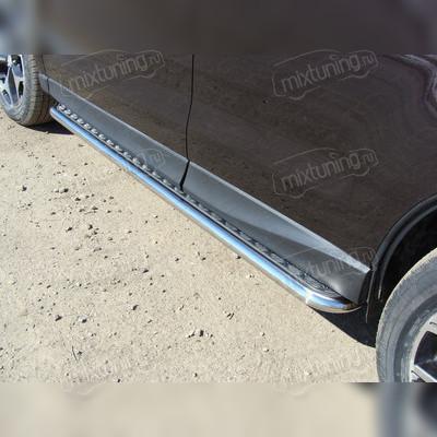 Пороги с площадкой.Алюминиевый лист.