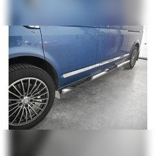 Молдинг дверной Transporter, Multivan, Caravelle, 5 шт, нержавеющая сталь (короткая база)