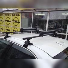 Багажник на крышу с прямоугольными поперечинами Daewoo Kalos 2003 - 2011 Хэтчбек (гладкая крыша)