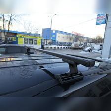 Багажник на крышу с прямоугольными поперечинами Saab 9-3 2003-2012 (в штатные места)