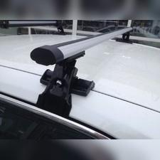 """Багажник на крышу с аэродинамическими поперечинами Daewoo Kalos 2003 - 2011 Хэтчбек , модель """"Аэро"""""""
