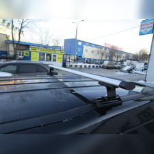 """Багажник на крышу с аэродинамическими поперечинами Saab 9-3 2003-2012 """"Аэро"""" (в штатные места)"""