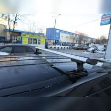 """Багажник на крышу с аэродинамическими поперечинами Subaru Legacy 2003-2008 """"Аэро"""" (в штатные места)"""